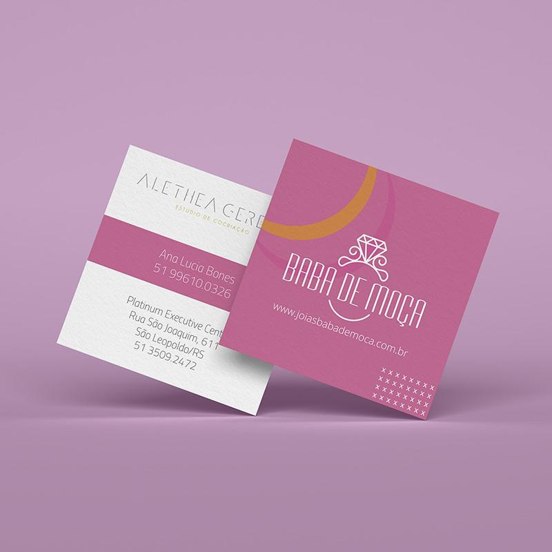 Cartão de visitas Joias Baba de Moça